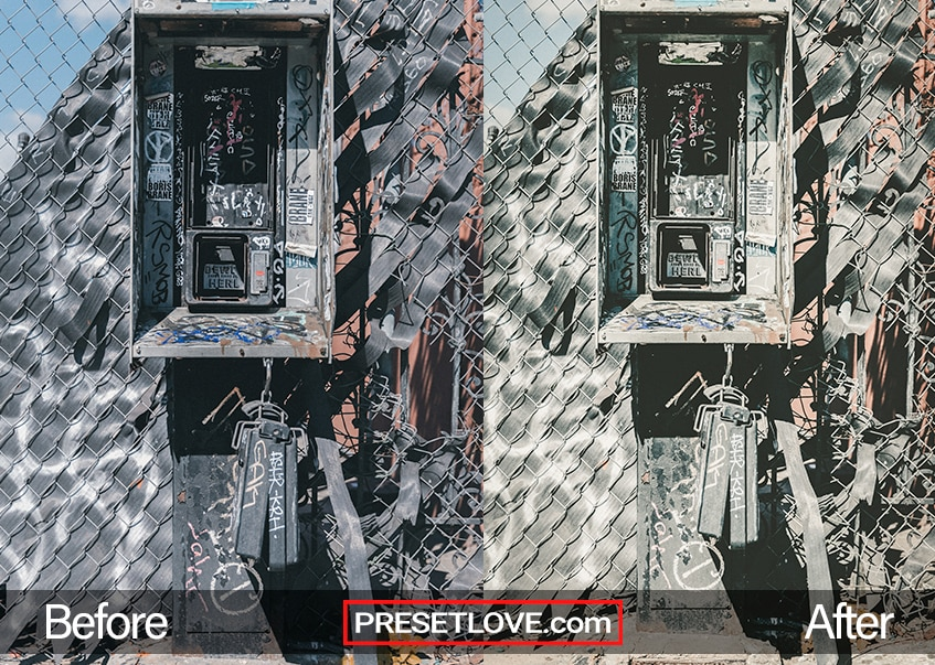 A highly detailed photo of an old telephone cabinet