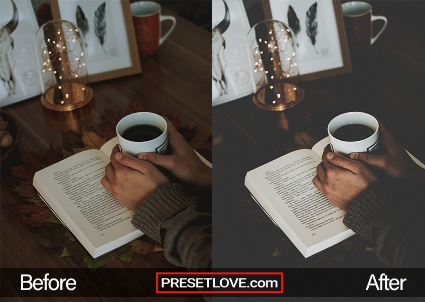 A photo of someone's hands wrapped around a coffee mug, on top of an opened book