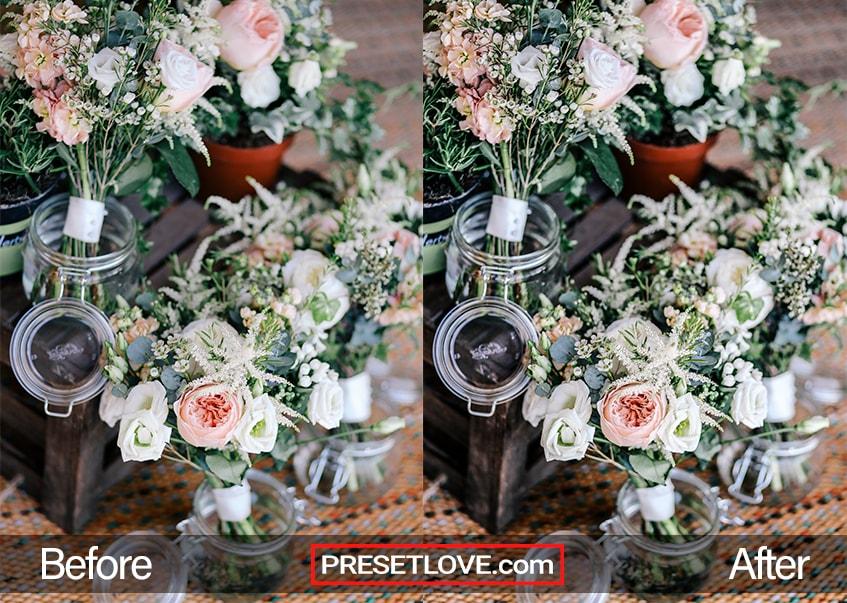 A sharpened photo of a flower arrangement