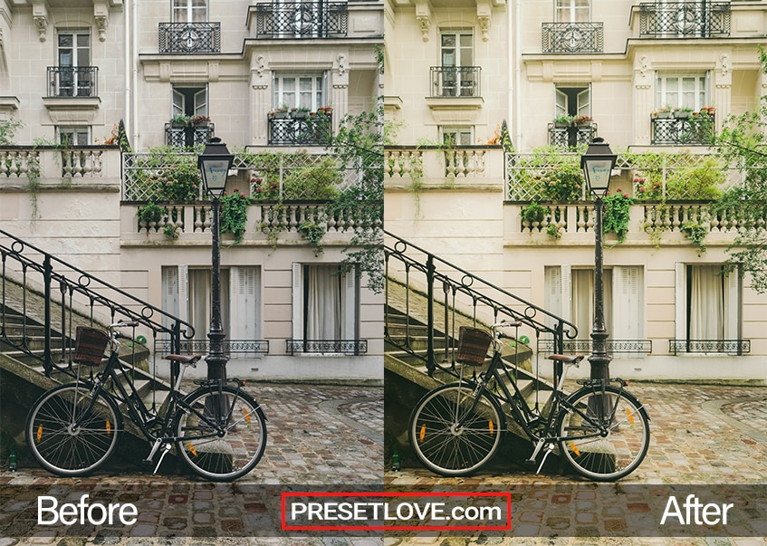 A bike leaning against a railing
