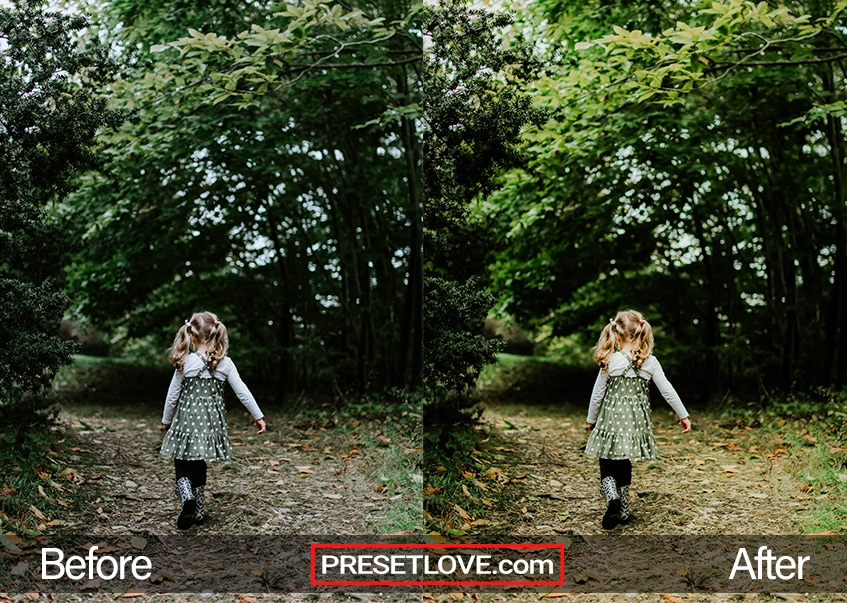 A little girl running outdoors