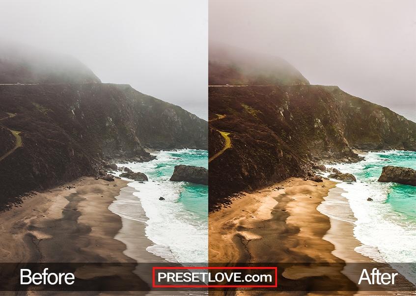 A vibrant photo of a coast