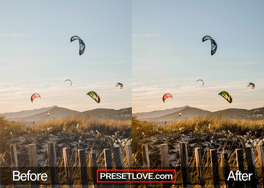 A dramatic and vibrant photo of paragliders during sunset