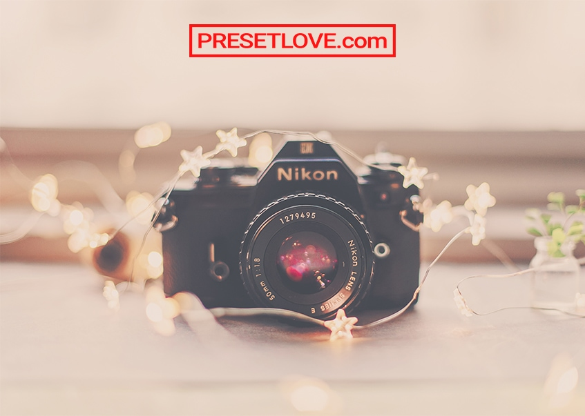 A undersaturated and creamy photo of a camera