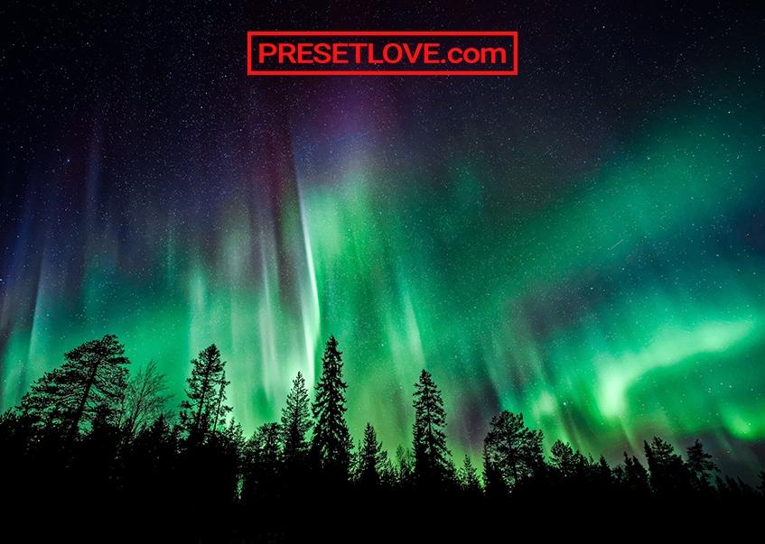 A high-definition photo of the aurora borealis