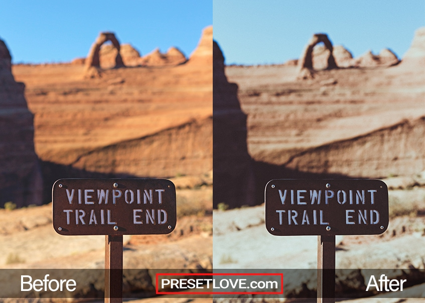 "A vibrant outdoor photo of a sign that says ""Viewpoint Trail End"""
