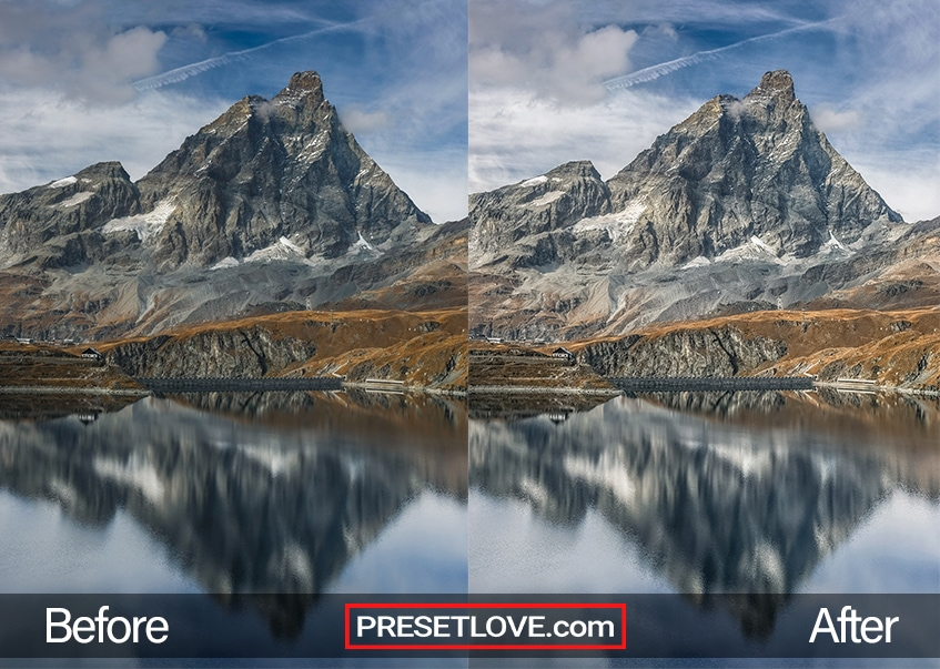 As You Can See In This Mountain Peak Image There Is An Increase Clarity Exposure And Shadows The Colors Look Livelier After Preset Lied