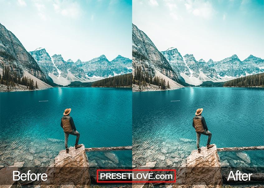 Crisp Mountain preset - Moraine Lake