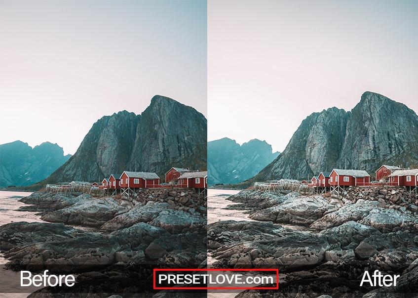 Crisp Mountain preset - fishing village