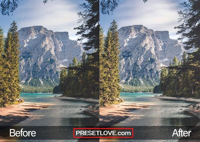 Crisp Mountain preset - lake