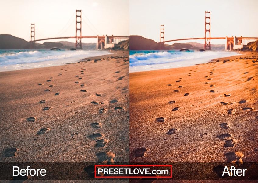 Terra Cotta Preset - footprints in the sand
