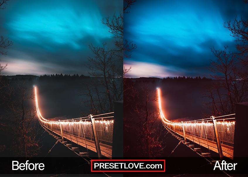 Terra Cotta Preset - lighted bridge