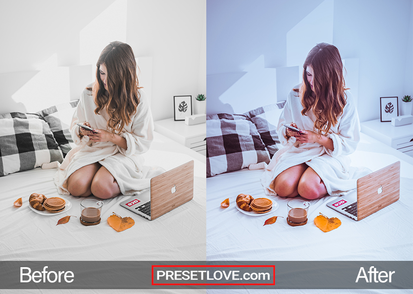 Make My Day Preset - breakfast in bed
