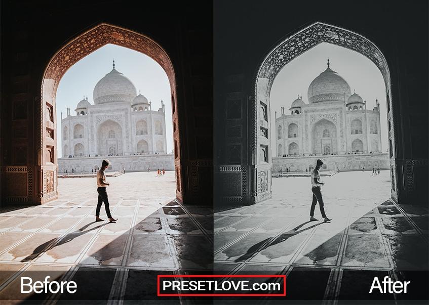 Black & White preset - Taj Mahal