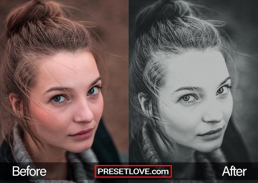 Black & White preset - lady