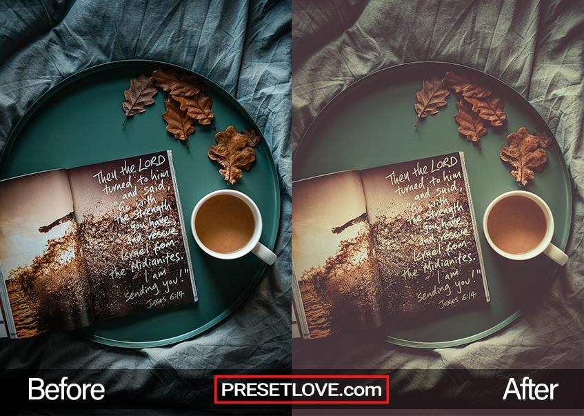 Autumn vintage preset - coffee time