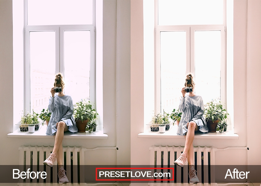 Fashion preset lady capturing photo