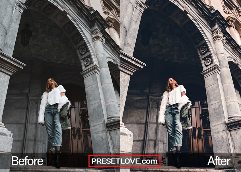 Fashion preset white fur