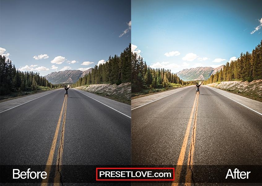 landscape view preset endless road