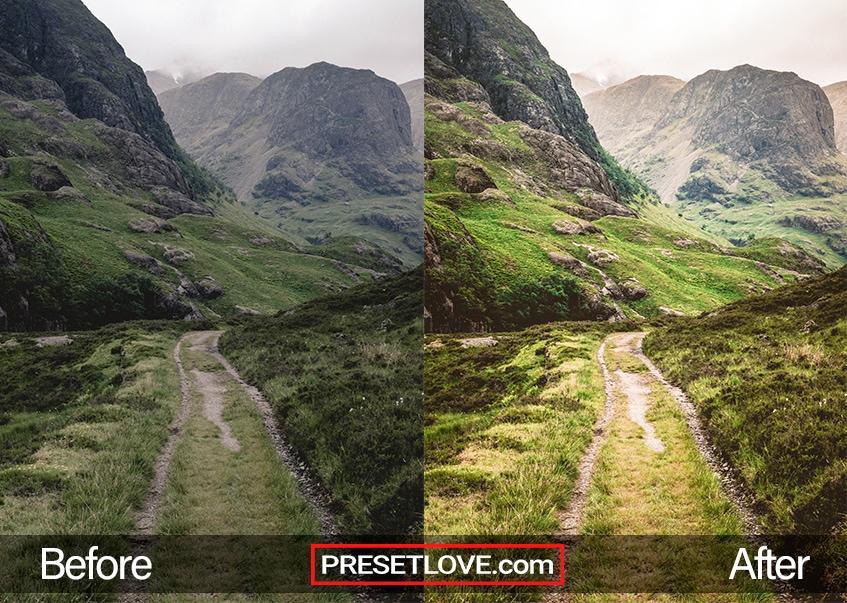 landscape view preset mountain view