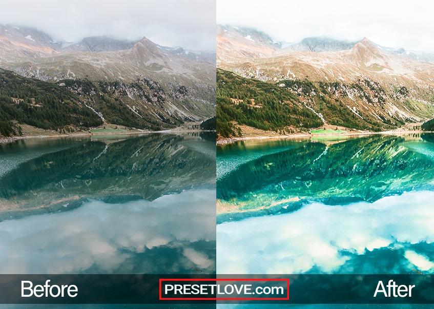 landscape view preset blue lake