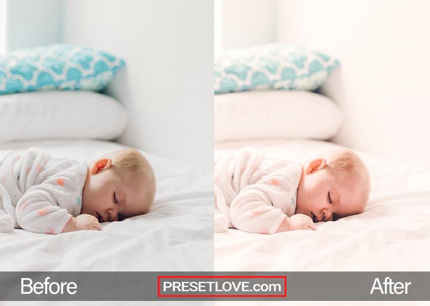Newborn preset sleeping angel