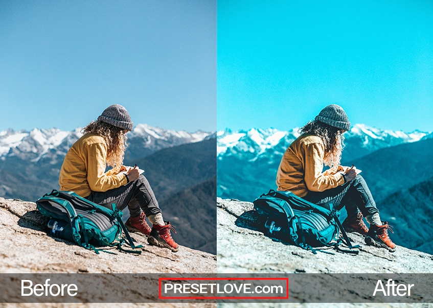 Urban cool preset mountain backpacker