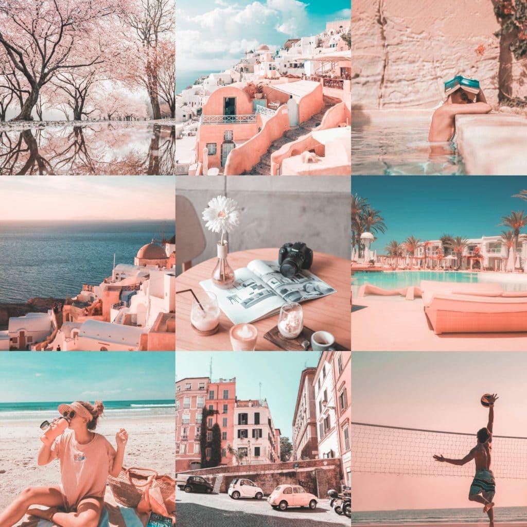 Rosette Original Collage - Premium Pink Lightroom Preset - PresetLove