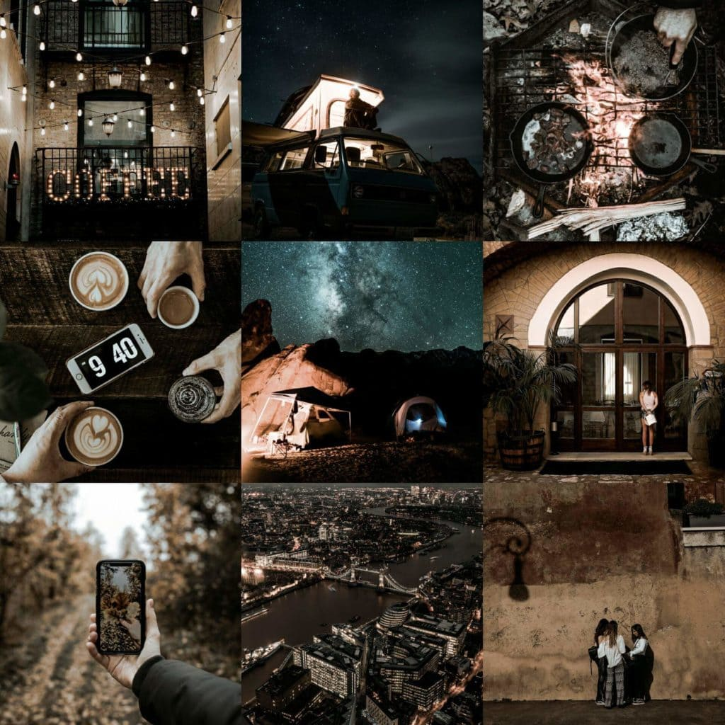 Old Town Original Collage - Dark and Moody Premium Preset by PresetLove