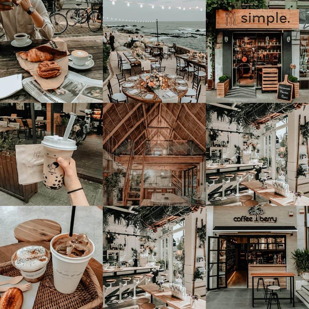 Dusk Original Collage - Brown Premium Lightroom preset by PresetLove