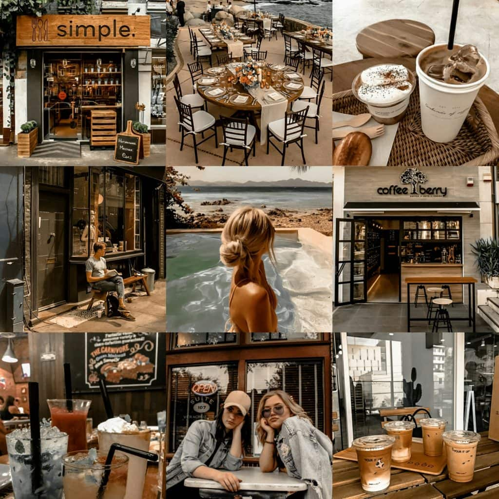 Morning Coffee Original Collage - Premium Brown Lightroom Preset by PresetLove