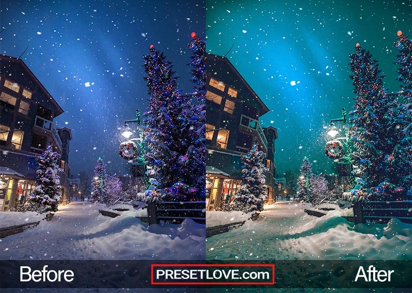 Christmas preset - snowy