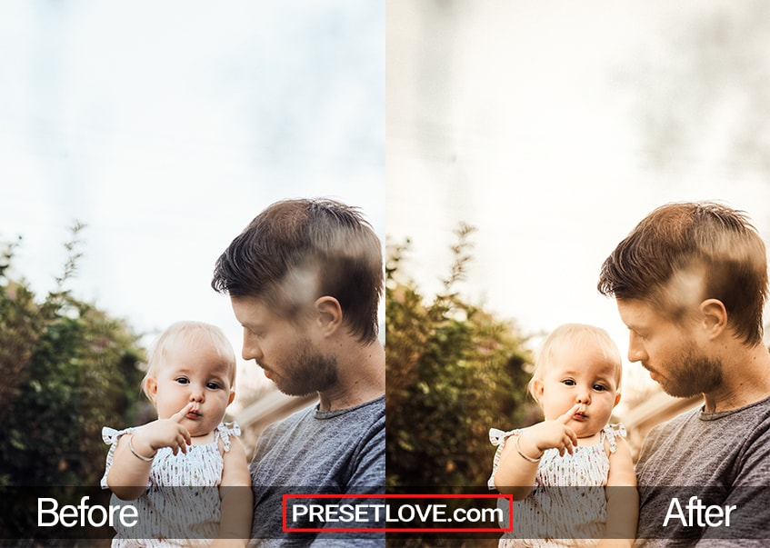 Family Day preset - father and daughter
