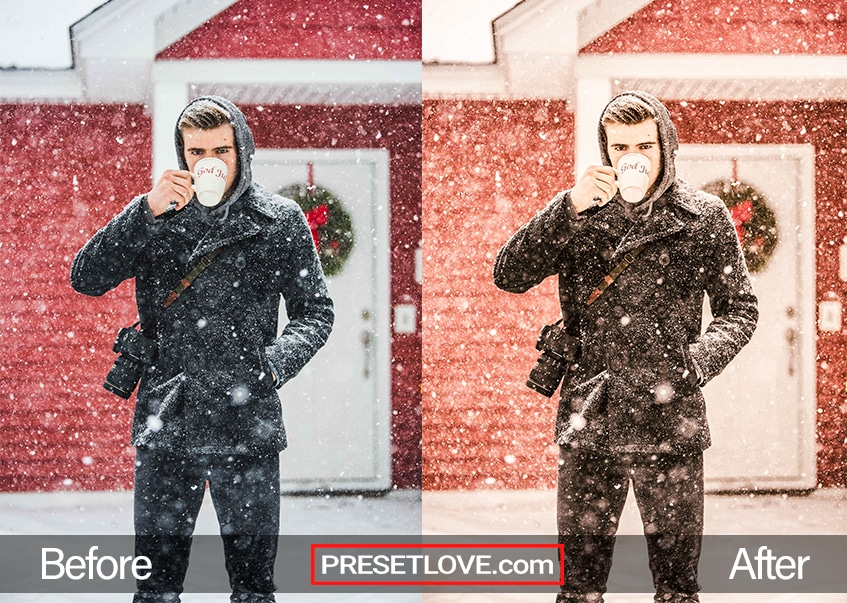 New Year's Party Preset - coffee in snow