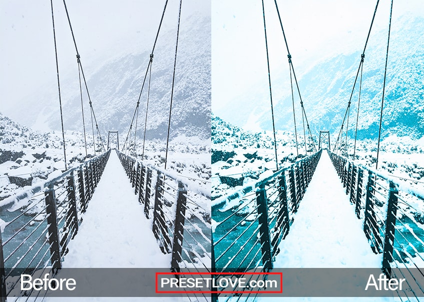 Winter Holidays Preset - snowy bridge