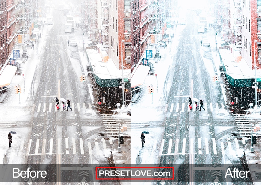 Winter Holidays Preset - street winter