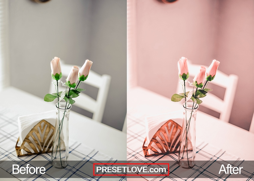 Valentine's Day Preset - pink flowers