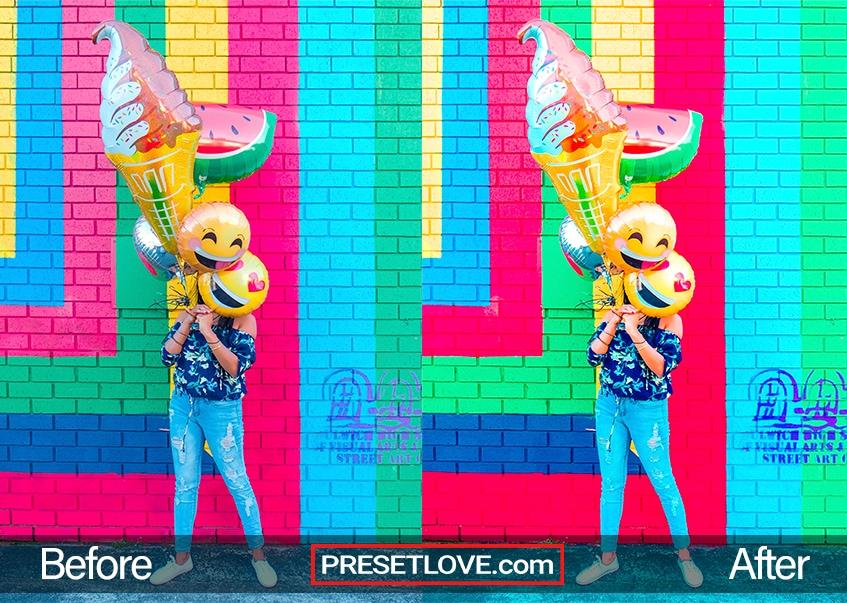 Vivid Party Preset - brick wall