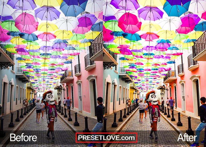 Vivid Party Preset - umbrellas