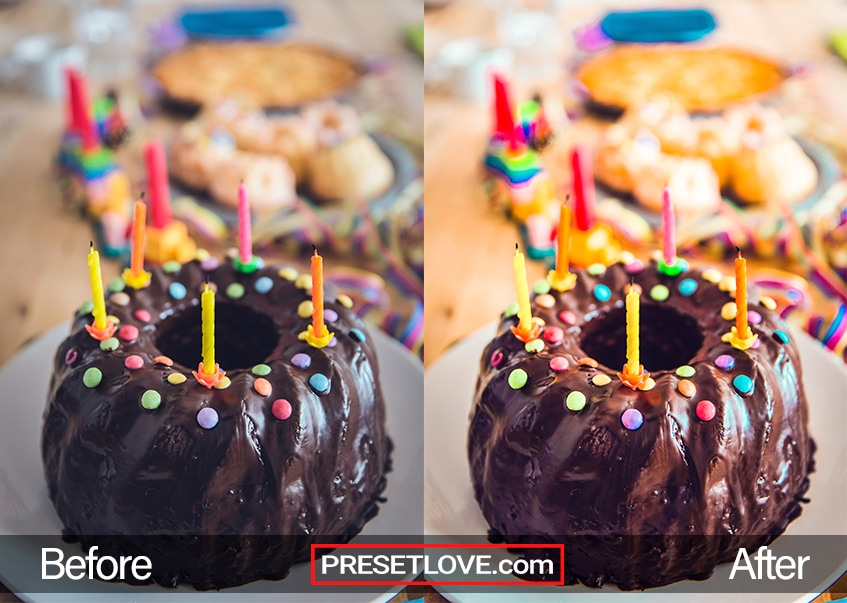 Vivid Party Preset - birthday cake