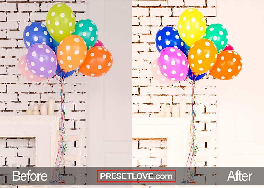 Vivid Party Preset - balloons