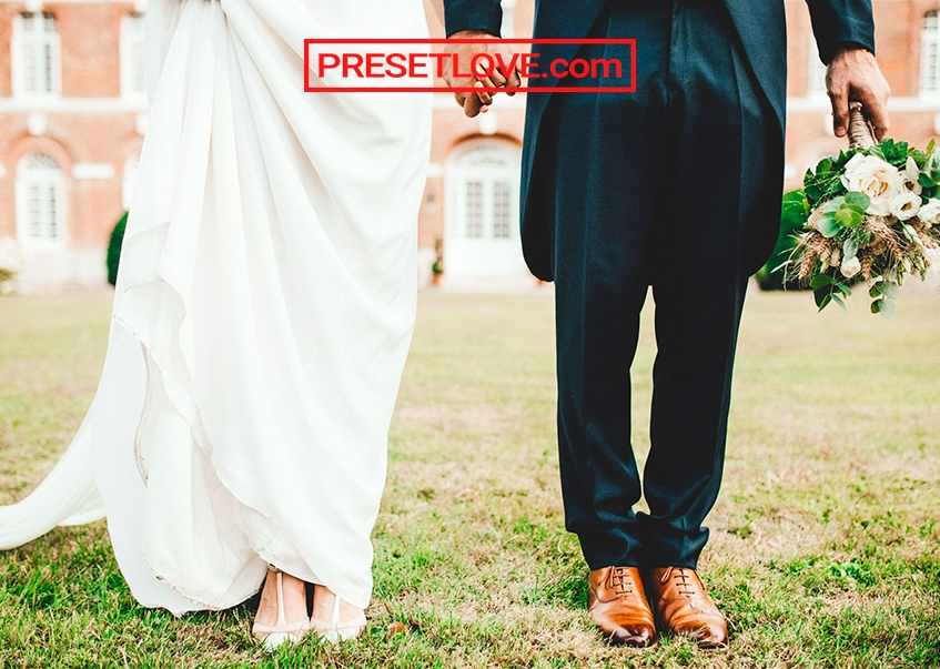 Featured bright wedding preset couple photo