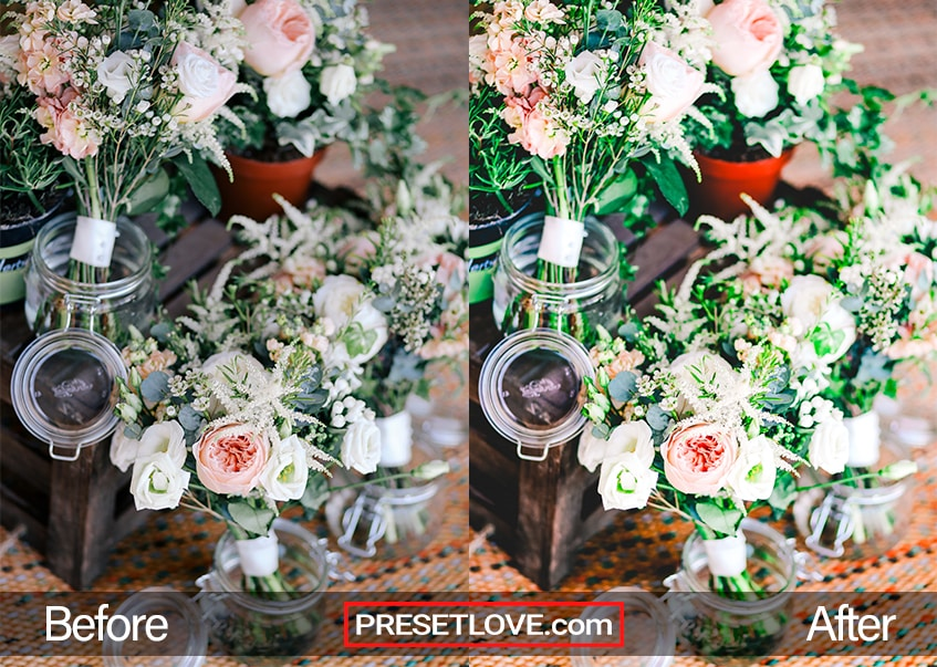 Elaborate and detailed flower arrangement for a wedding