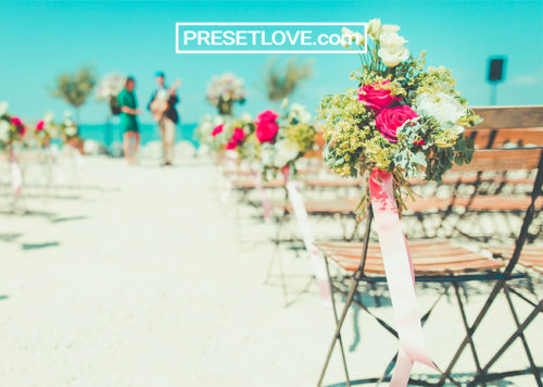 outdoor beach wedding photo preset