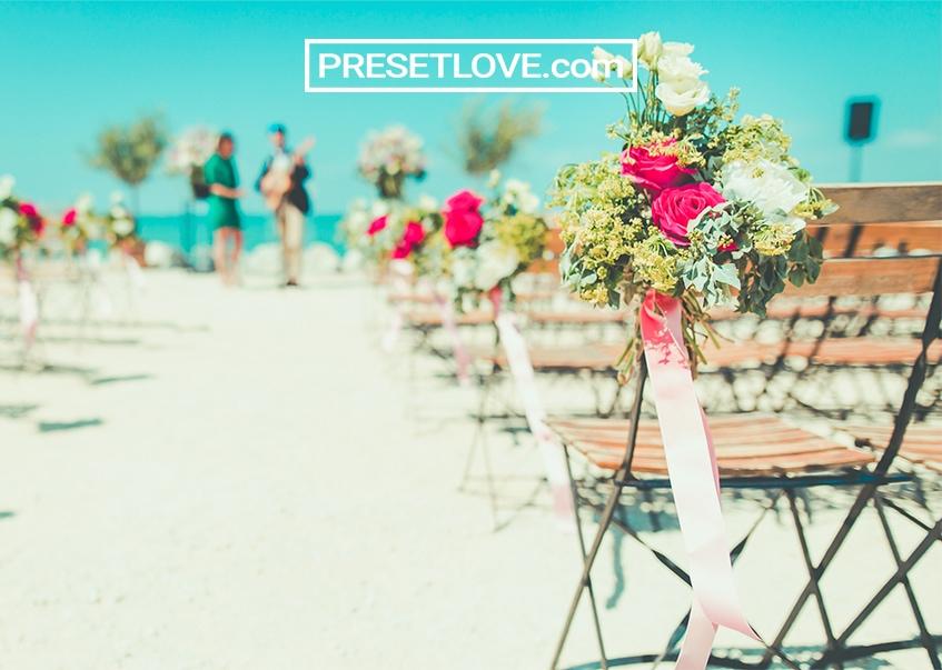 outdoor beach wedding photo preset