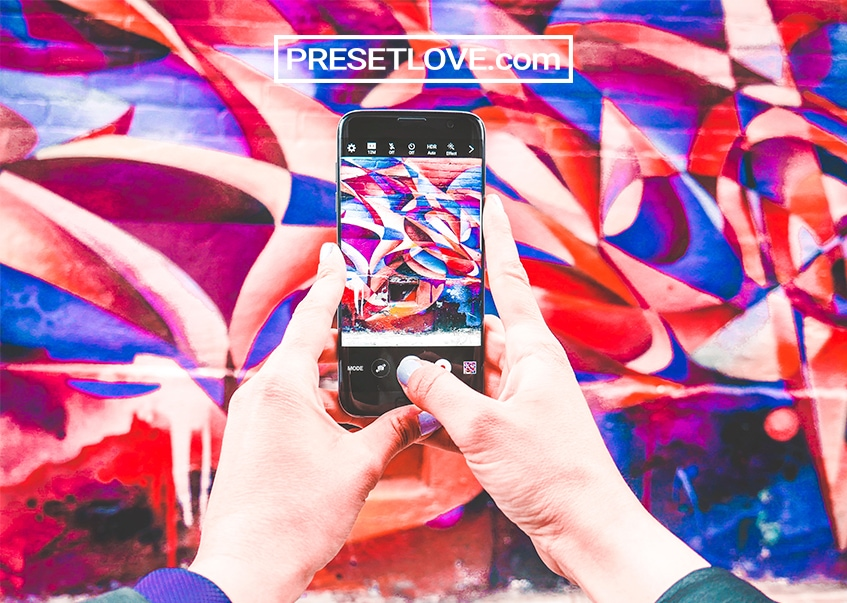 A colorful photo of Street Art with colors optimized by a free urban preset by Preset Love