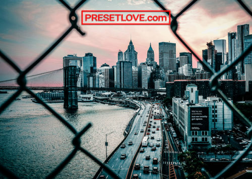 A photo of a cityscape made dark and moody by free Street Blue urban Lightroom preset by Preset Love