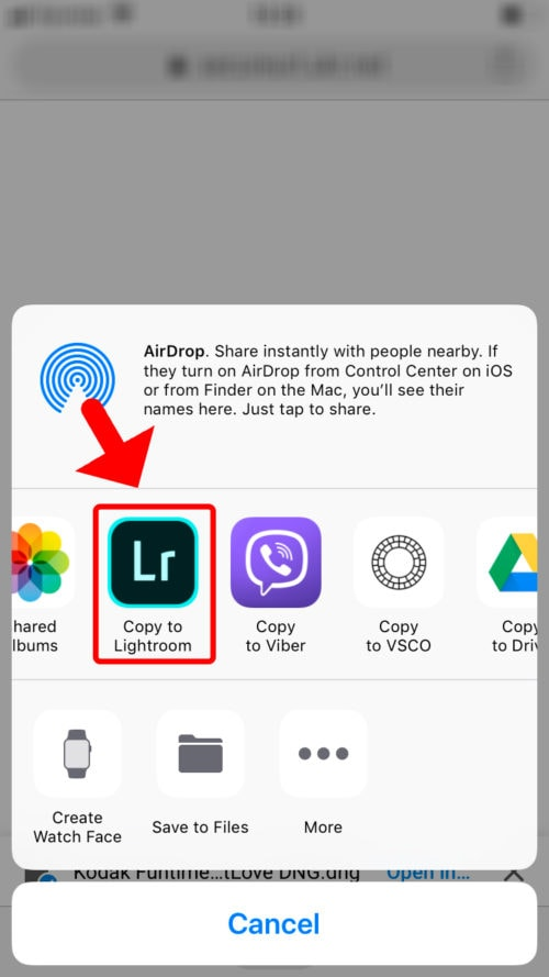 How to use Lightroom Mobile iOS - Step 7