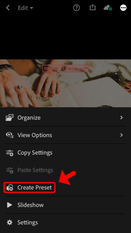 How to use Lightroom Mobile iOS - Step 8