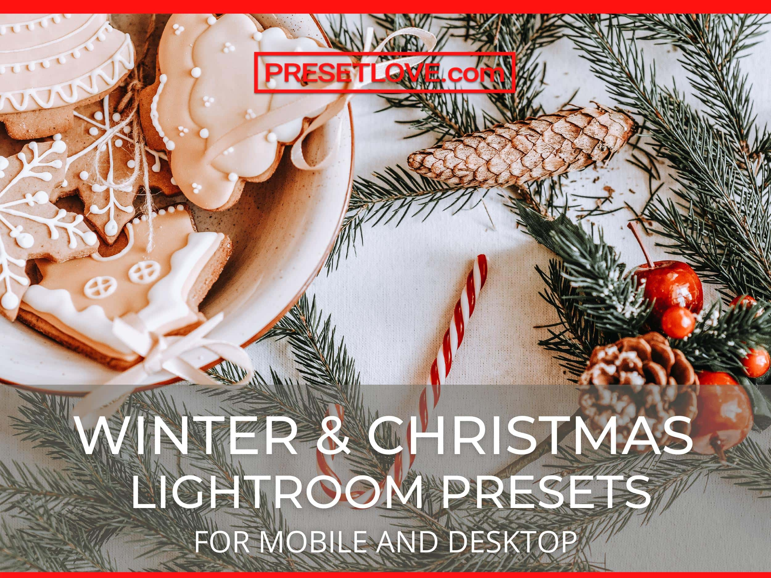 Winter and Christmas Lightroom Presets for mobile and desktop